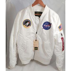 Men's Nasa White Bomber Jacket